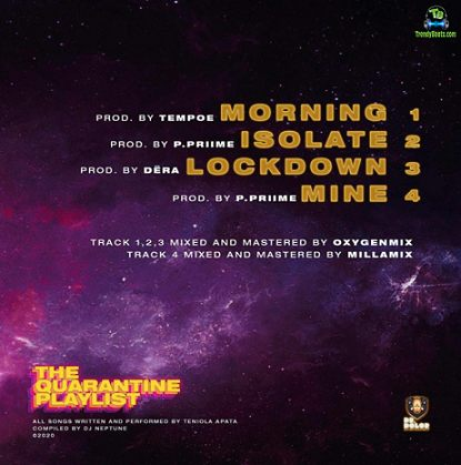 "Download Teni ""The Quarantine Playlist"" EP ft DJ Neptune mp3"