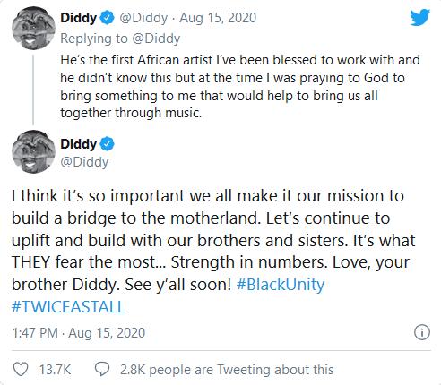 Diddy-Tweet On Burna Boy 3