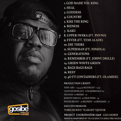 IllBliss Illy Chapo X Album Tracklist