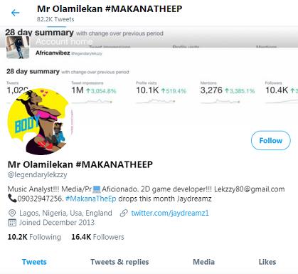 Mr-Olamilekan Twitter Profile